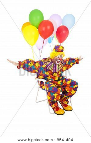 Flying Clown In Lawn Chair