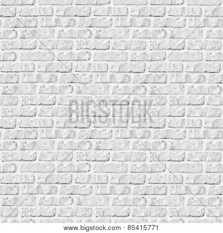 Seamless white brick wall background.