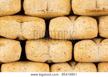 Macro of dog biscuits