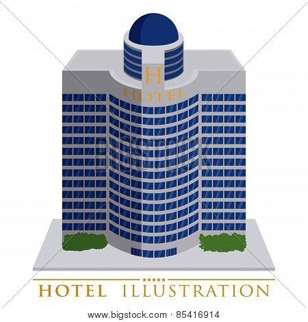 hotel design over white background vector illustration