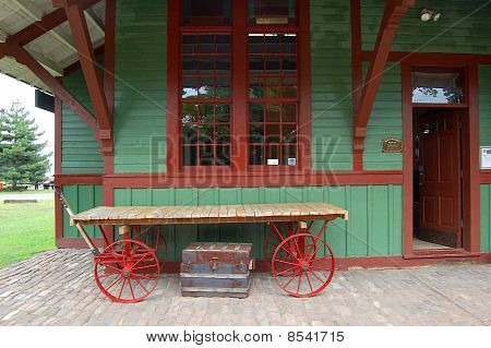 Old Fashioned Train Depot