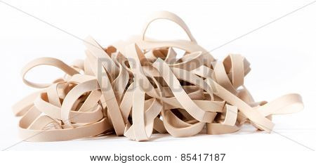 Macro of a pile of rubber bands