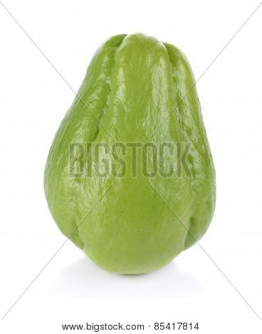 Thai Bitter Melon On White Background