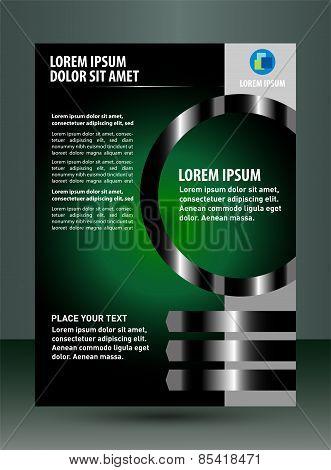 Green black brochure