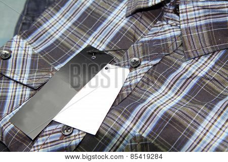 Label of Plaid shirts