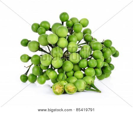 Pea Eggplant On White Background