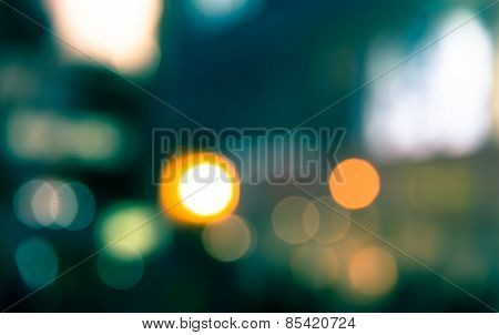 Nightlife Bokeh Abstract Background