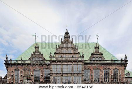 Bremen Medieval Town Hall Facade