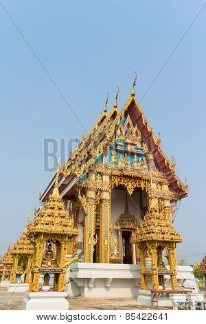 Temple with sky background