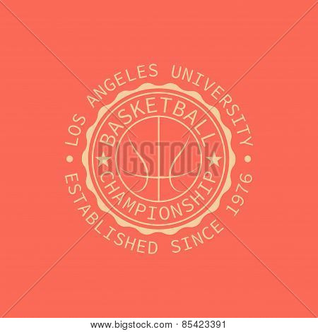 Los Angeles University Stamp For Typography