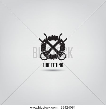 Vector Template Of Tire Fitting Logo