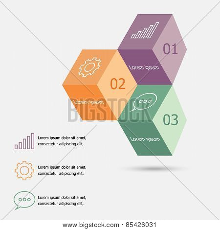Design 3D Box Infographic Template