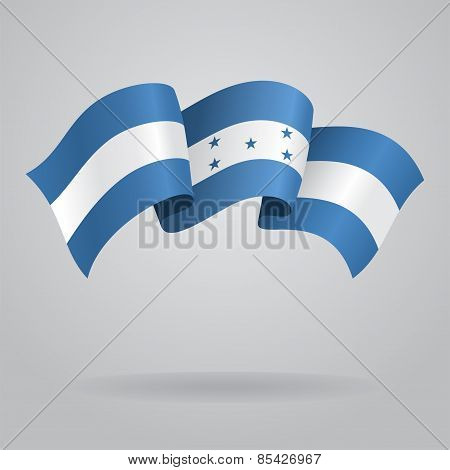 Honduras waving Flag. Vector illustration