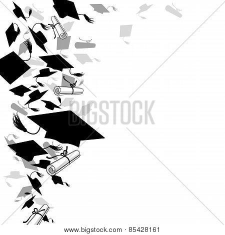 Graduate Caps  And Diploma