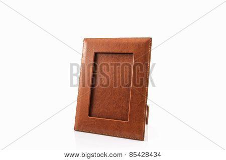 Vintage Leather Picture Frame.
