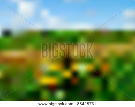 vector blurred landscape