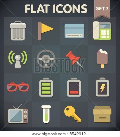 Flat Icons for Web and Mobile Applications Set 7