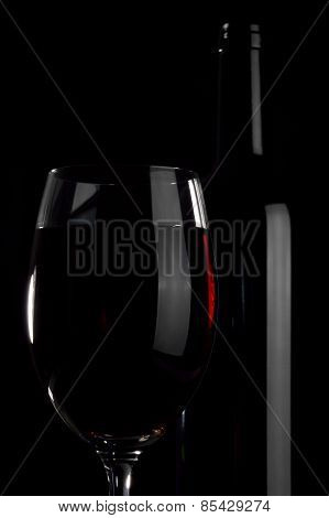 Bottle And Wineglass.