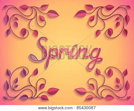 Colorful spring card