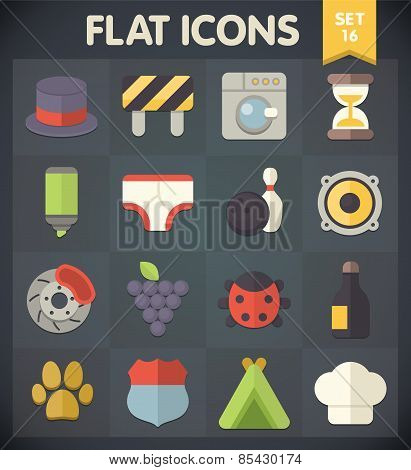 Flat Icons for Web and Mobile Applications Set 16
