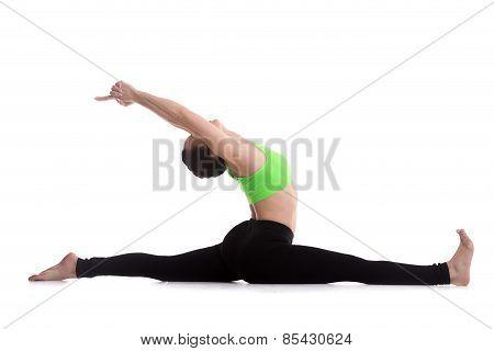 Sitting In Splits Yoga Exercise