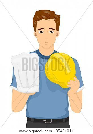 Illustration of a Man Torn Between Pursuing Two Different Professions