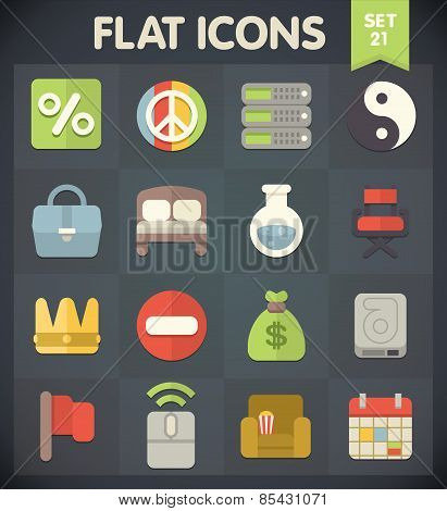 Flat Icons for Web and Mobile Applications Set 21