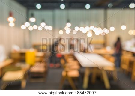 Coffee Cafe Blur Background With Bokeh