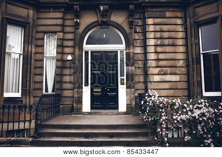 Front door, Scotland, UK