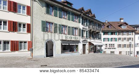 Old Town Street In Rapperswil