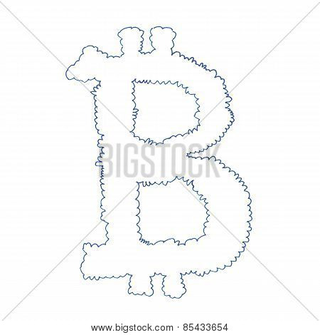 Bitcoin Cloud Symbol Drawing