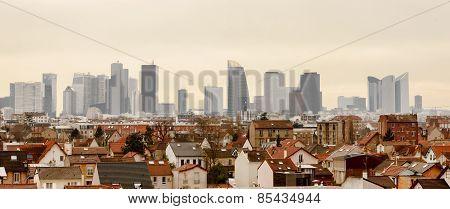 Panoramic View Of Paris La Defense