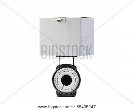 Weighing A Box For Ship, Clipping Path