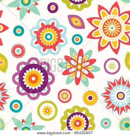 Colorful seamless floral pattern.