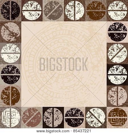Grunge coffee background for menu.