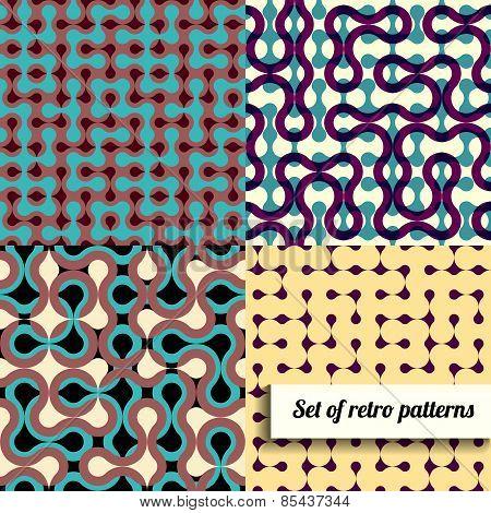 Set of retro geometric style.