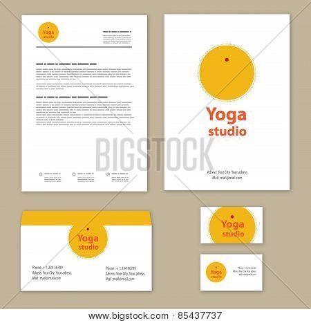 Template corporate style with yoga studios.