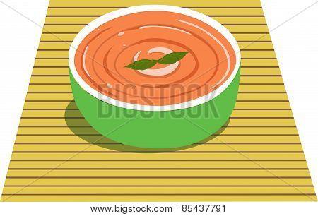 Vector illustration Illustrator rice soup food bowl