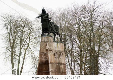 Grand Duke Gediminas With Horse Monument