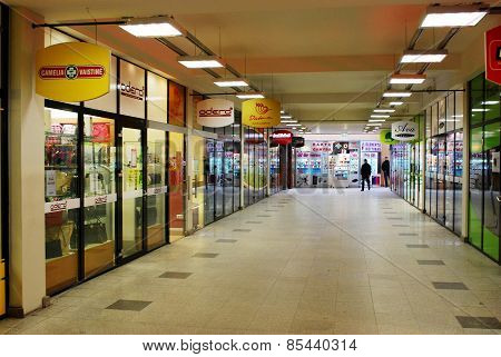 Shop In Bus Station In Capital Of Lithuania Vilnius City