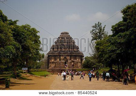 Tourist at Sun Temple, Konarak, India