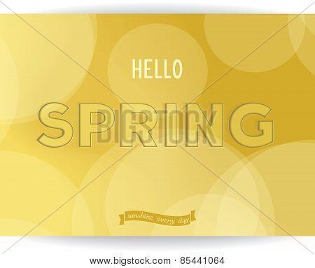 Hello spring - card design