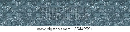 Grungy Panoramic Tiled Background (Letterbox Format)