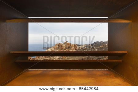 Landscape In Creus Cape With Viewpoint In Mediterranean Coast. Spain