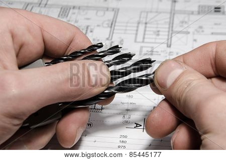 set of drill bits for electric screwdriver