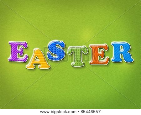 Colorful Easter Theme Letters