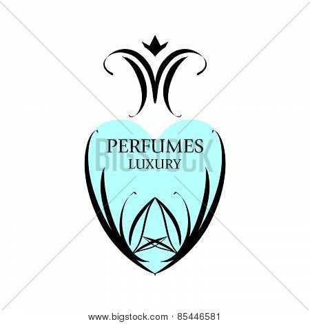 Abstract Vector Icon With Patterns For Perfumery