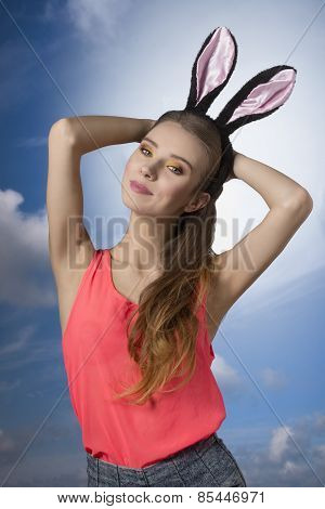 Beautiful Rabbit Woman