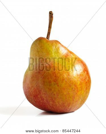 Ripe Pear On A White Background.