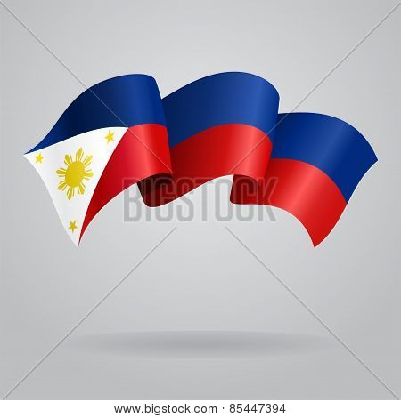 Philippines waving Flag. Vector illustration